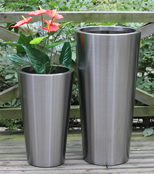 FO-9001 Stainless Steel Tapered Planter