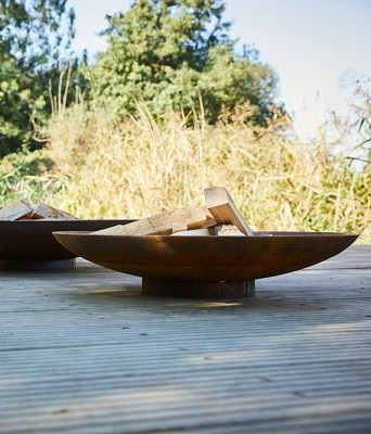 FO-FP9003 Corten Steel Bowl Fire Pit
