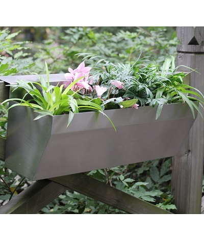 FO-9041 Stainless Steel Wall Mounted Flowerpot