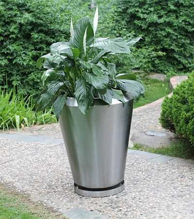 FO-9045 Stainless Steel Tapered Flowerpot  - copy