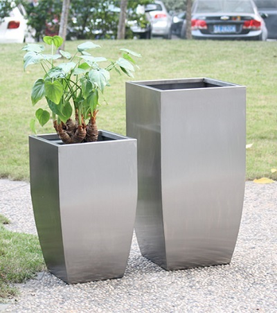 FO-9034 Stainless Steel Tapered Flowerpot