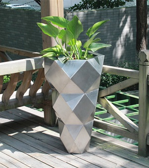 FO-9052 Stainless Steel Tapered Flowerpot