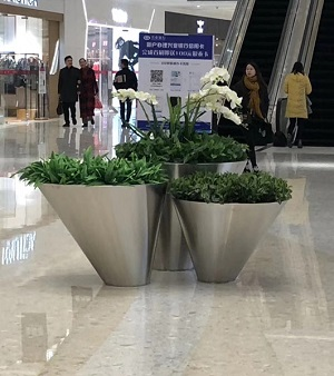 FO-9056 Stainless Steel Bowl Flowerpot