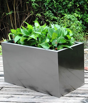 FO-9063 Stainless Steel Squared Flowerpot